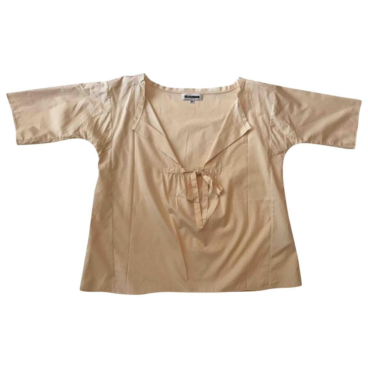 Jil Sander - Top   pour femme en coton - ecru