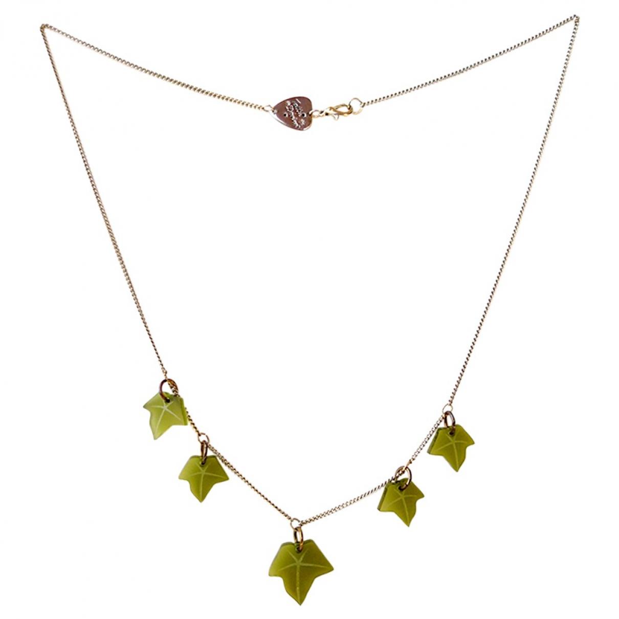 - Collier Motifs Floraux pour femme en metal - vert