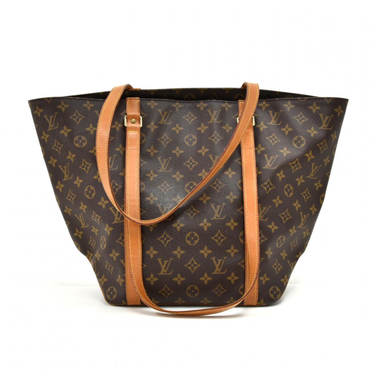 Louis Vuitton Shopping Brown Cloth handbag for Women N