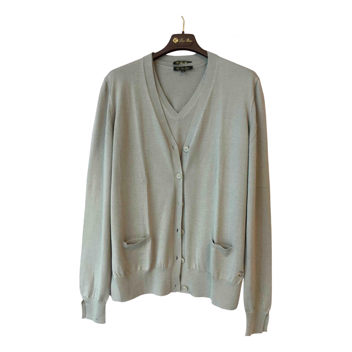 Loro Piana N Grey Cashmere Knitwear for Women 42 IT