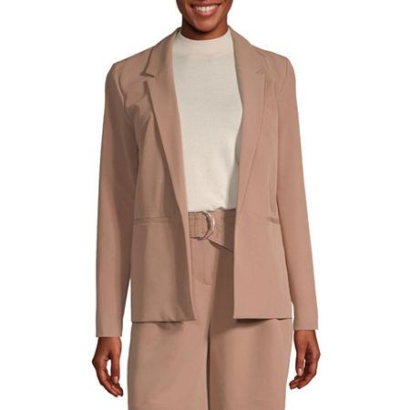 Worthington Womens Blazer, Medium , Brown