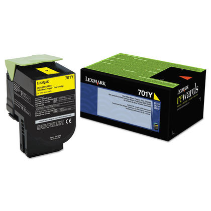Lexmark 701Y 70C10Y0 Original Yellow Return Program Toner Cartridge