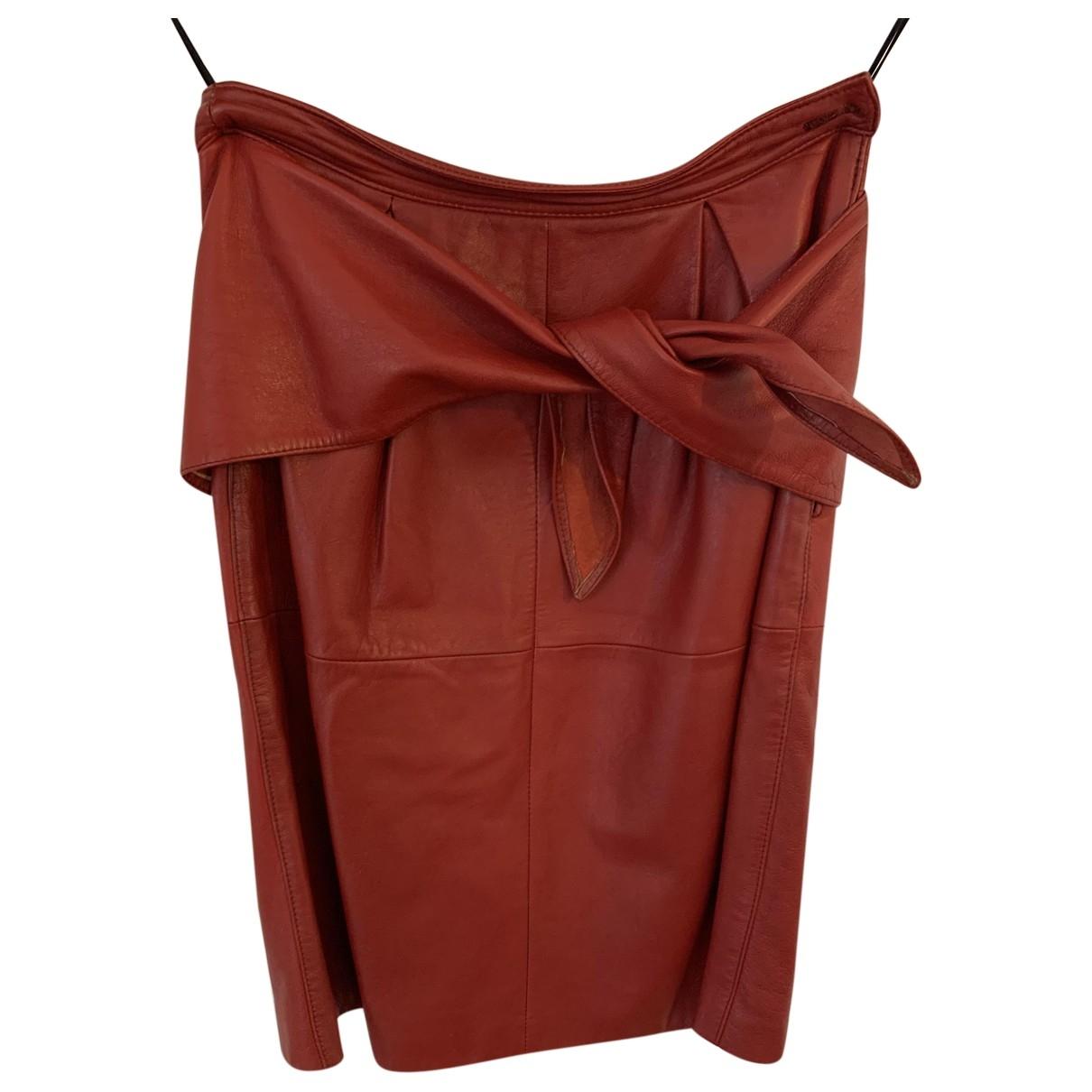 Mini falda de Cuero Valentino Garavani