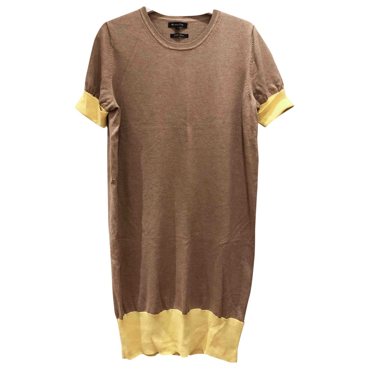 Massimo Dutti \N Camel Silk dress for Women M International