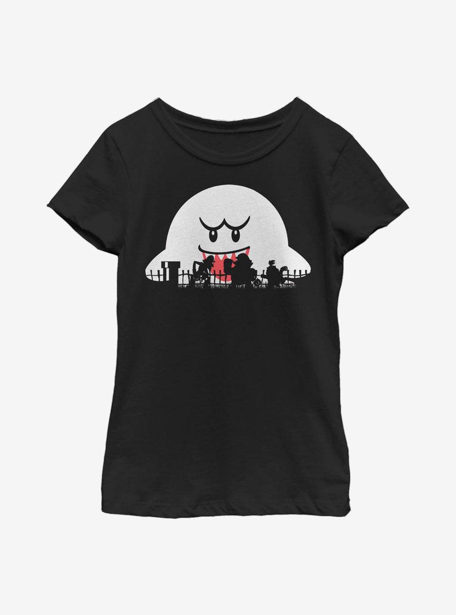 Nintendo Mario Halloween Silhouettes Youth Girls T-Shirt