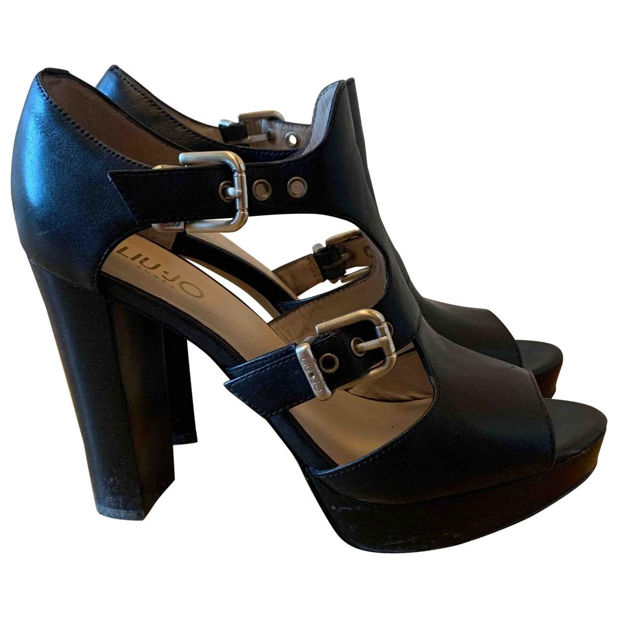Liu.jo - Sandales   pour femme en cuir - noir