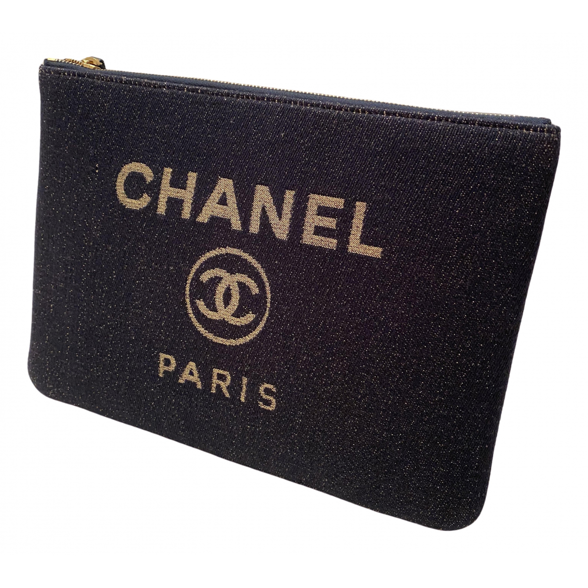 Chanel - Pochette   pour femme en tweed - noir