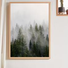 Forest Print Wall Painting Without Frame