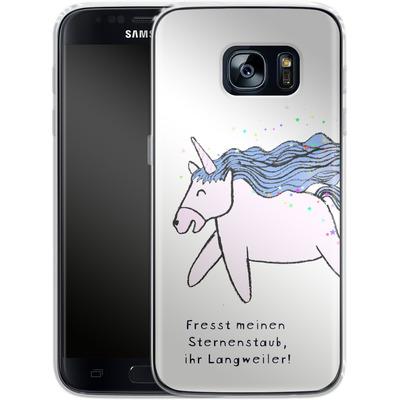 Samsung Galaxy S7 Silikon Handyhuelle - Sternstaub von caseable Designs