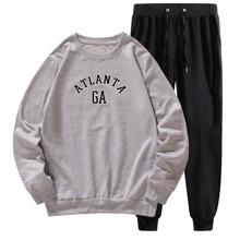 Sweatshirt mit Buchstaben Grafik & Jogginghose mit Kordelzug