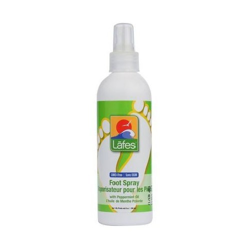 Foot Spray With Organic Peppermint Oil 8 Oz by Lafes Natural Body Care