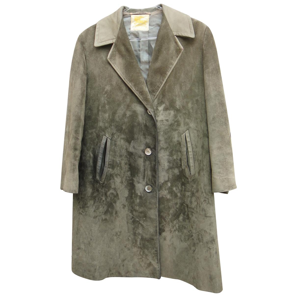 Burberry \N Green Leather coat for Women XL International