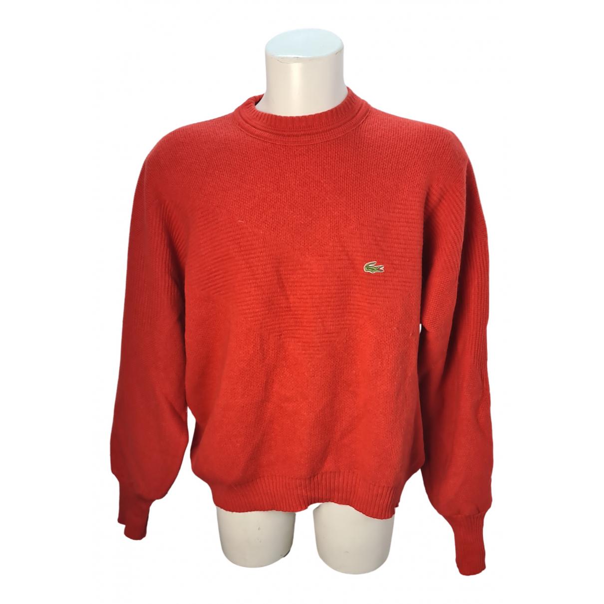 Lacoste - Pulls.Gilets.Sweats   pour homme en laine - rouge