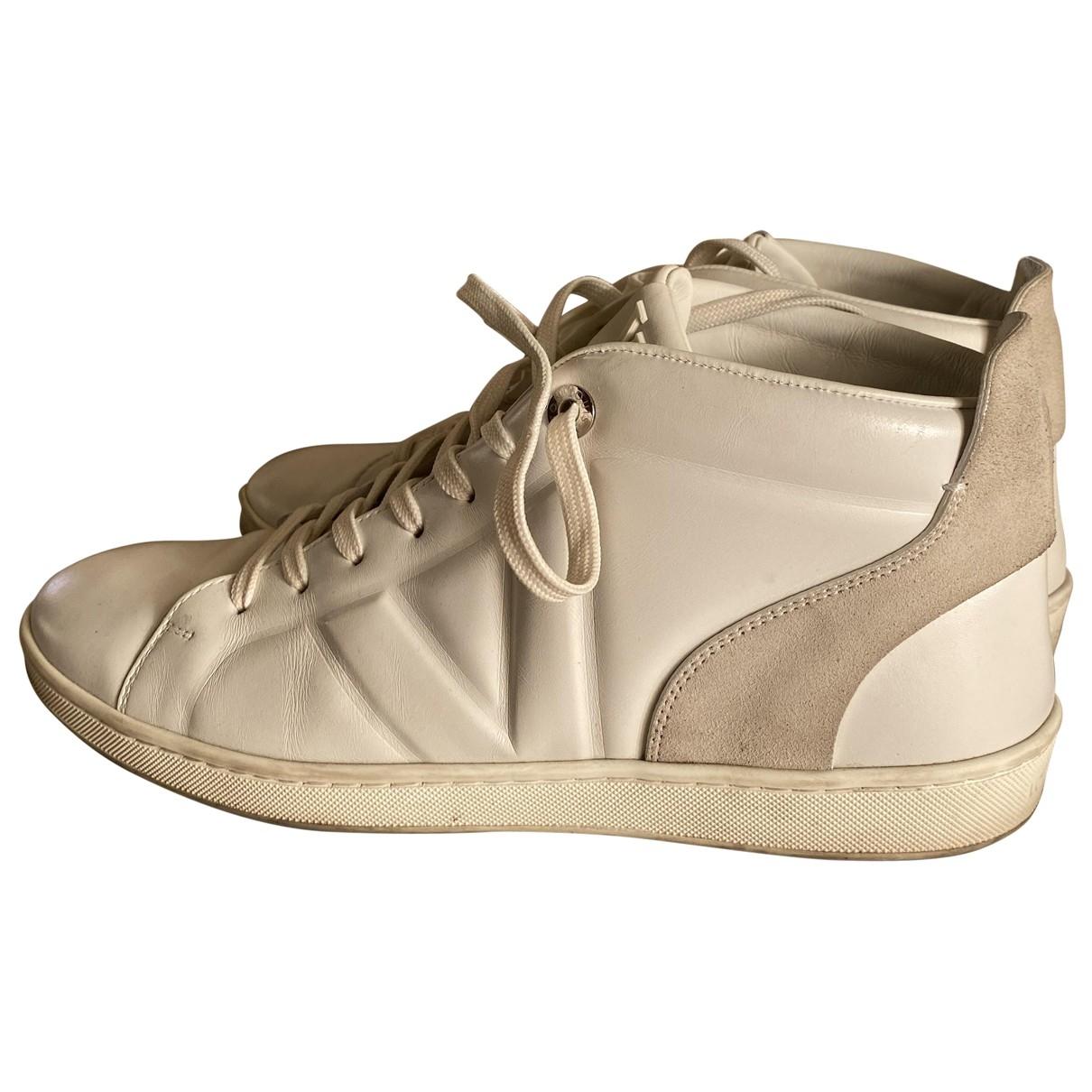 Louis Vuitton - Baskets   pour homme en cuir - blanc