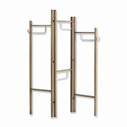 BM205891 Modern Style 3 Panel Metal Screen with Hooks and Rod Hangings