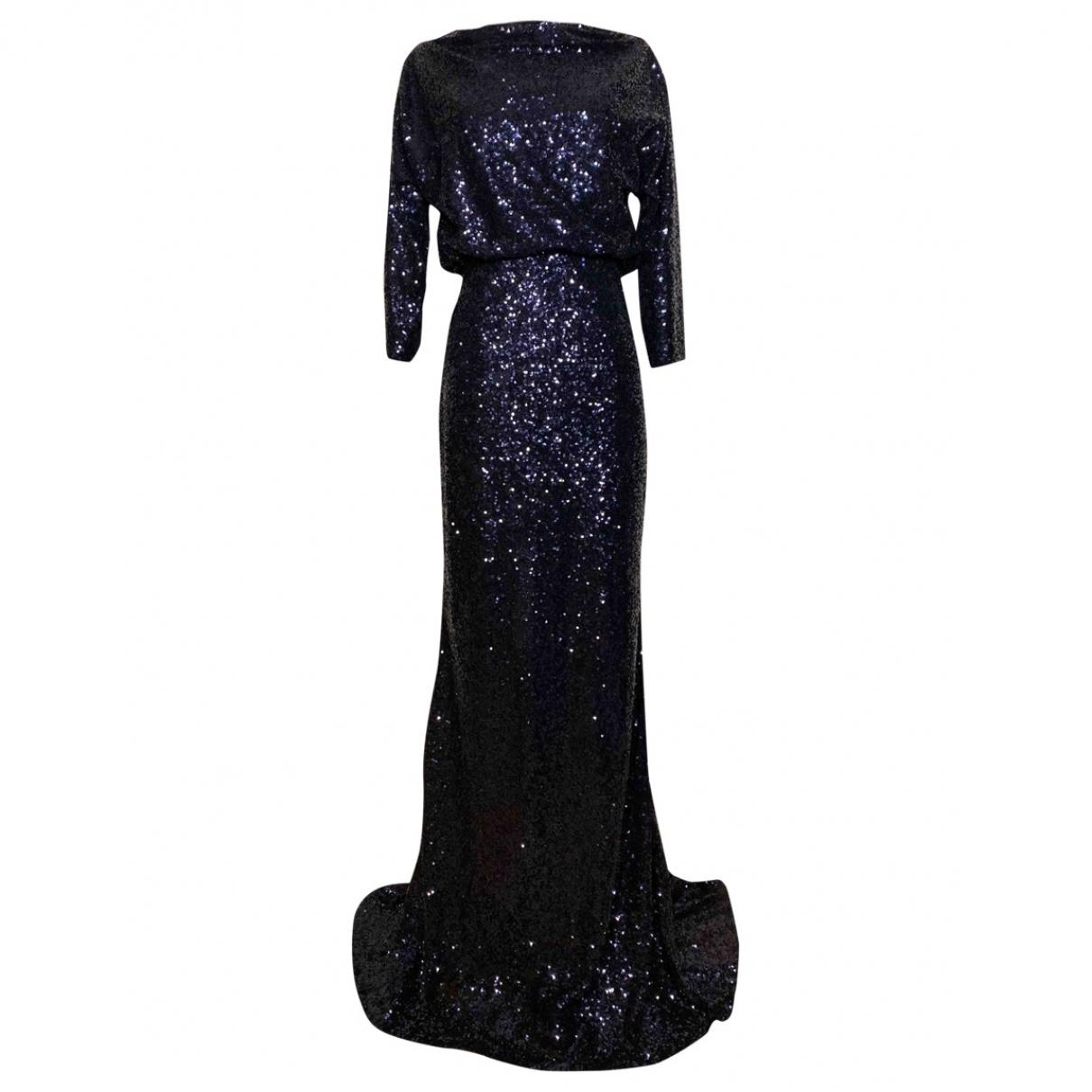 Badgley Mischka \N Kleid in  Blau Mit Pailletten