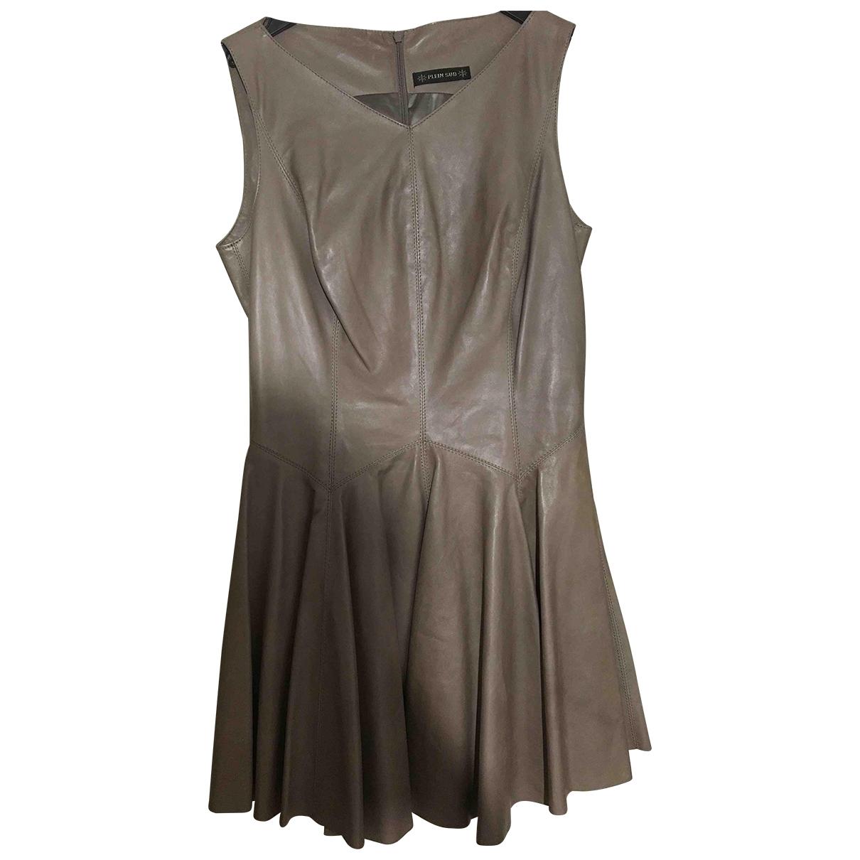 Plein Sud \N Kleid in  Braun Leder