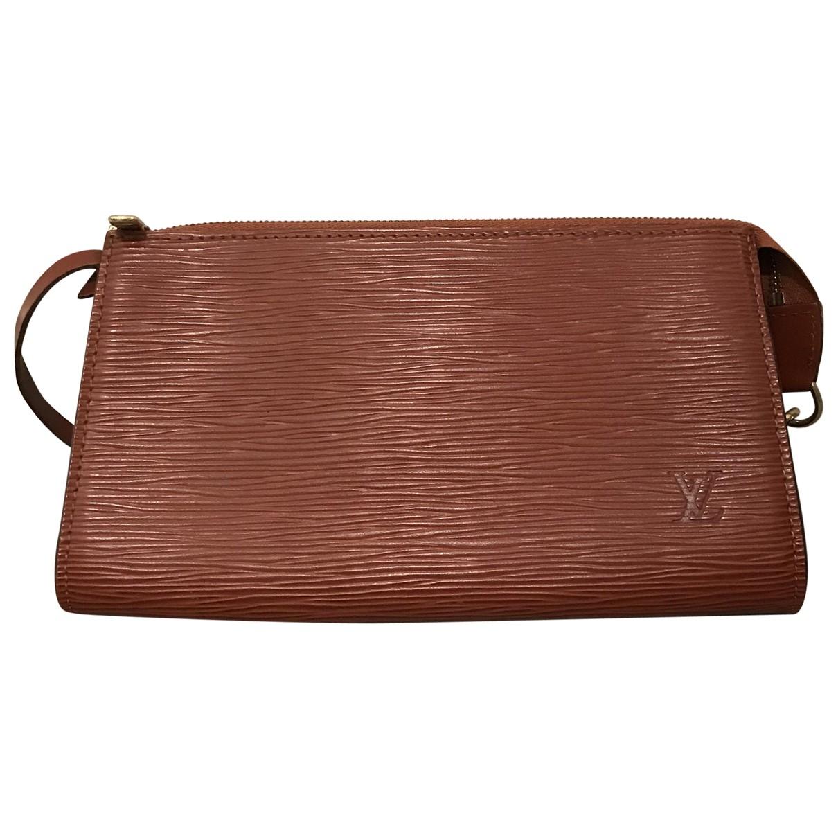 Louis Vuitton Pochette Accessoire Brown Leather Clutch bag for Women \N