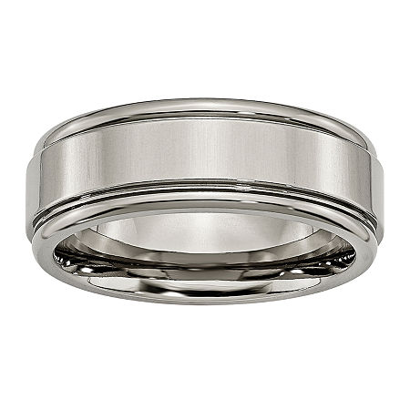 Mens 8mm Titanium Wedding Band, 12 1/2 , No Color Family