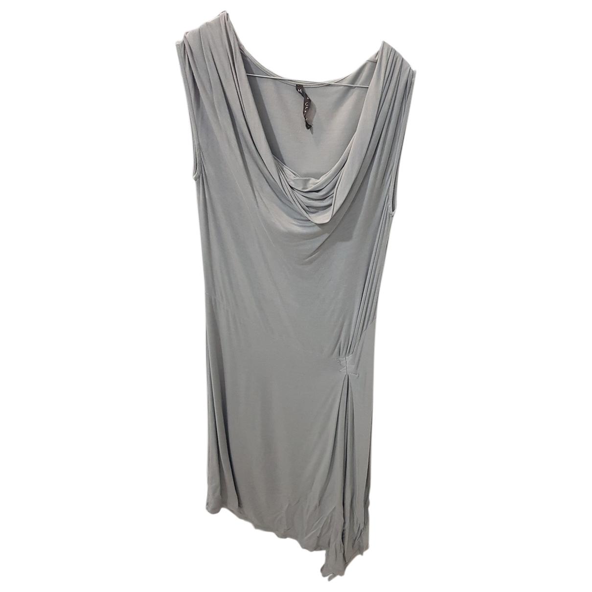 Non Signe / Unsigned \N Kleid in  Grau Viskose