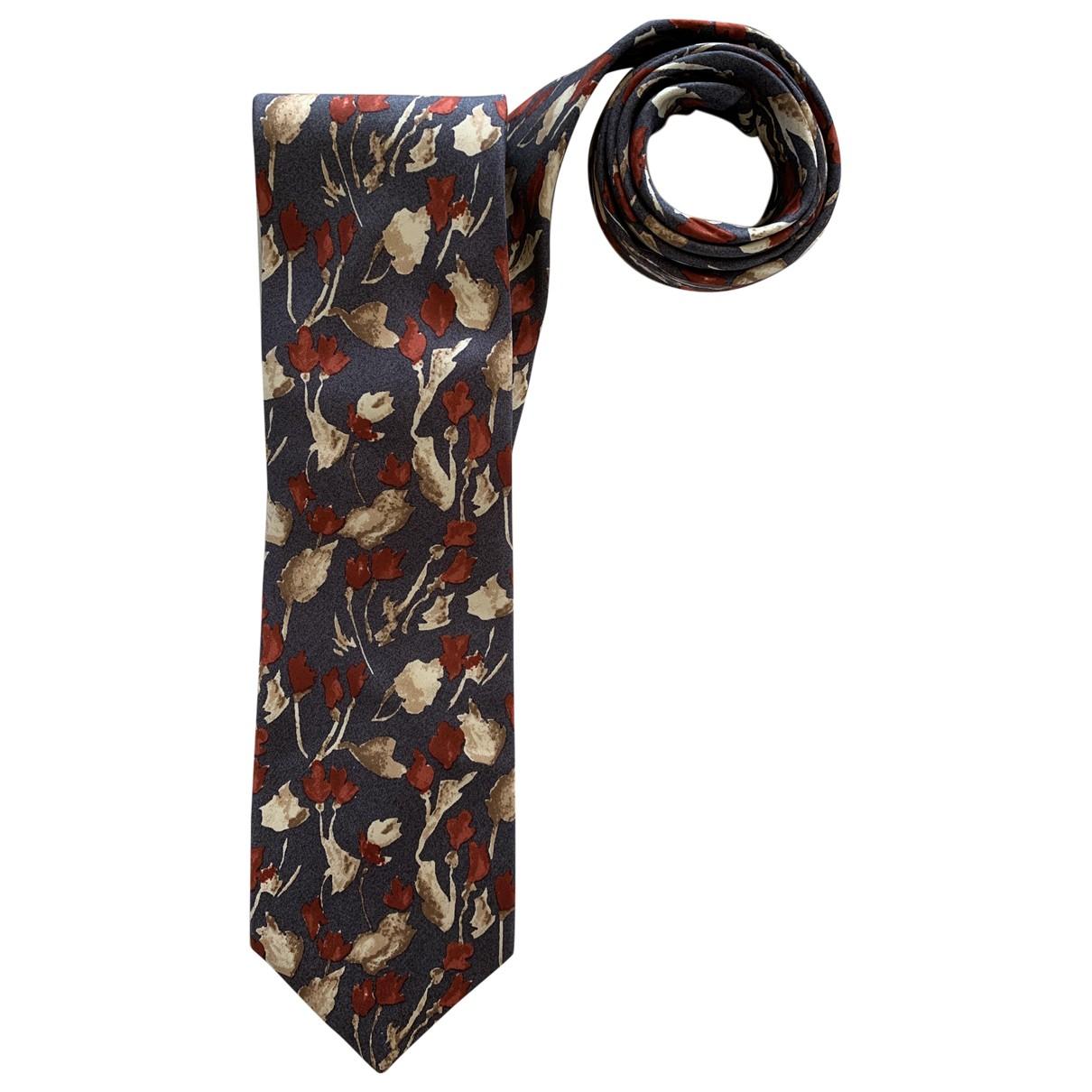 Pierre Cardin \N Krawatten in  Grau Seide