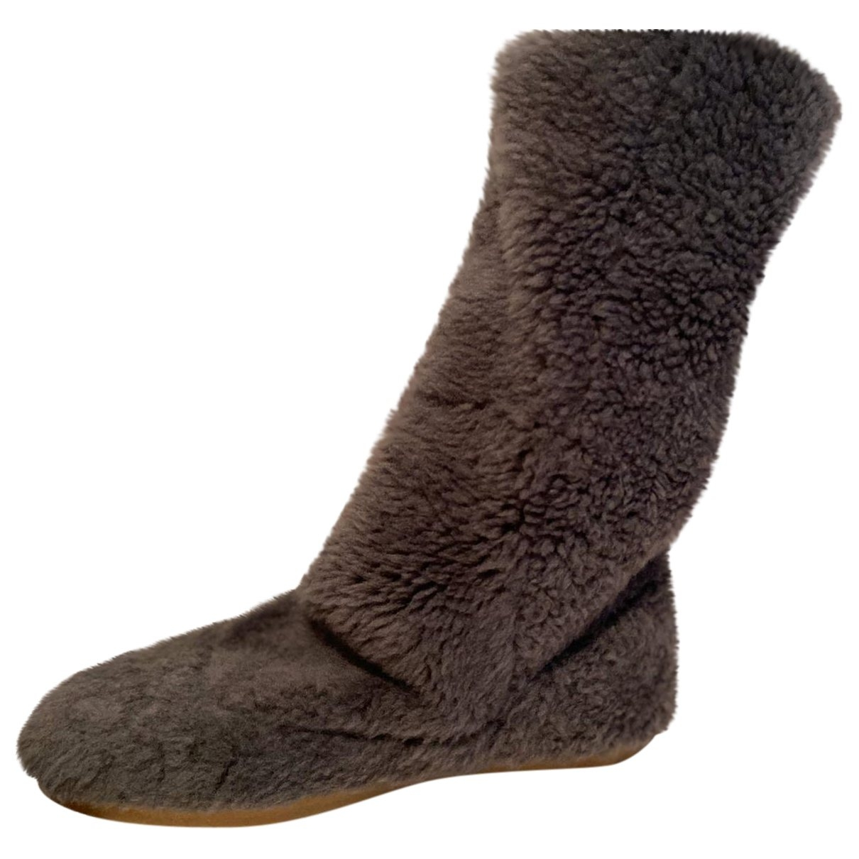 Isabel Marant \N Anthracite Faux fur Ankle boots for Women 38 EU