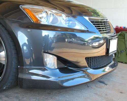 Seibon FL14LXIS-OP OP Style Carbon Fiber Front Lip Lexus IS250   350 F Sport Only 2014