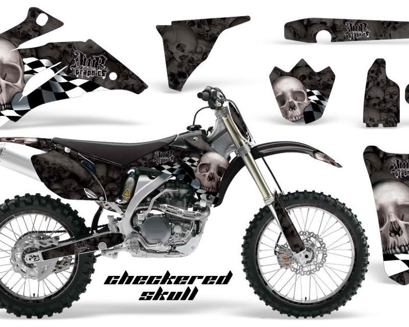 AMR Racing Graphics MX-NP-YAM-YZ250F-YZ450F-06-09-CS S K Kit Decal Wrap + # Plates For Yamaha YZ250F YZ450F 2006-2009áCHECKERED SILVER BLACK