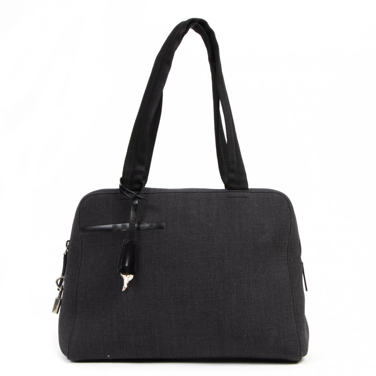 Prada \N Anthracite Cloth handbag for Women \N