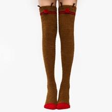 Calcetines con ciervo de navidad