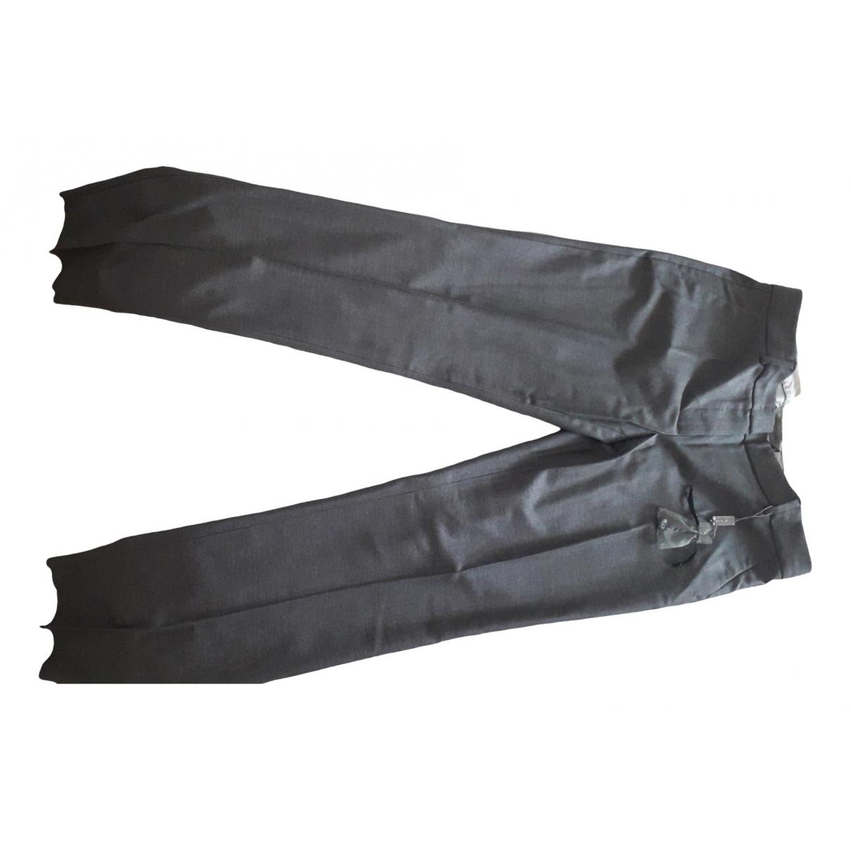 Sport Max \N Grey Wool Trousers for Women 42 IT