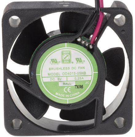 RS PRO , 5 V dc, DC Axial Fan, 40 x 40 x 15mm, 14.4m³/h, 1.5W, IP55