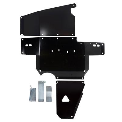 Synergy MFG 5709-BK JK Heavy Duty Complete Skid Plate System 12-18 Wrangler JK/JKU Black Powdercoated
