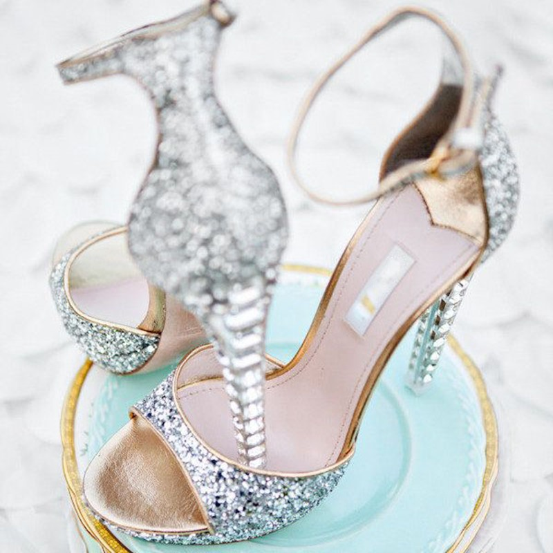 Ericdress Luxurious Rhinestone Ankle Strap Sandals