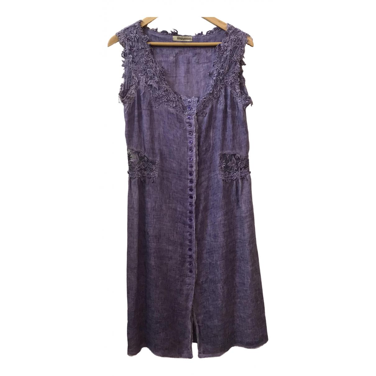 Ermanno Scervino \N Kleid in  Lila Leinen