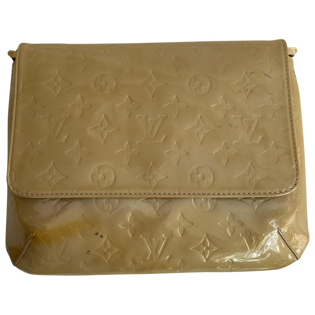 Louis Vuitton Thompson Beige Patent leather handbag for Women \N
