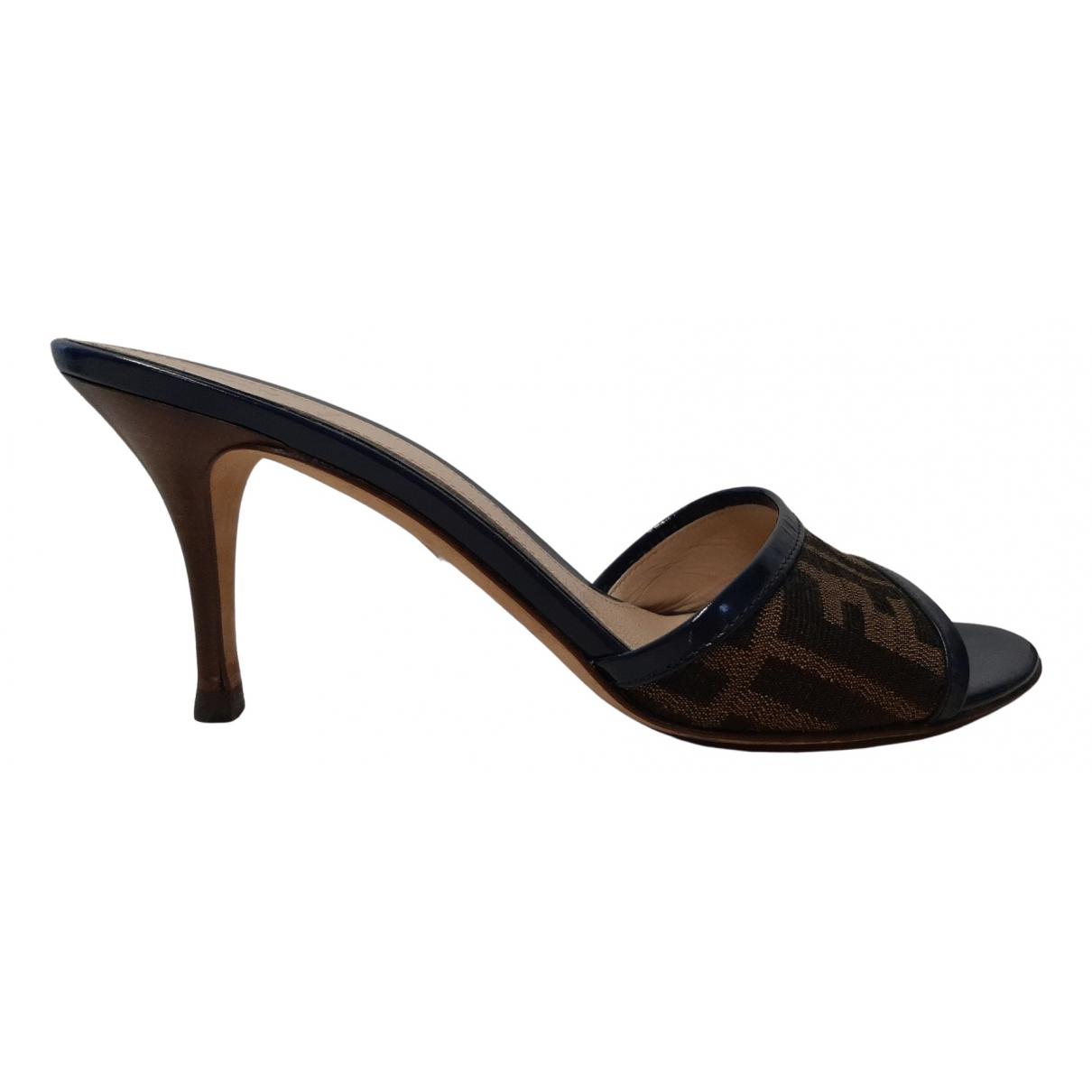 Fendi N Brown Cloth Sandals for Women 38 IT