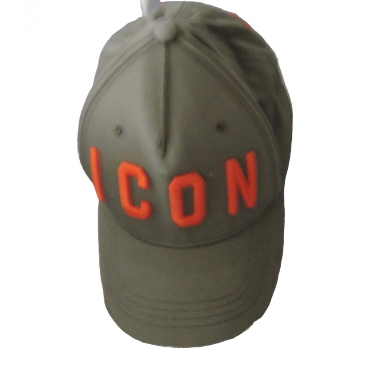 Dsquared2 - Chapeau & Bonnets   pour homme en coton - kaki