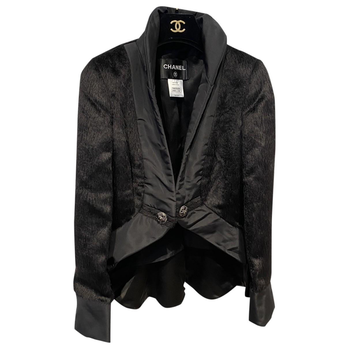 Chanel - Veste   pour femme en fourrure - noir