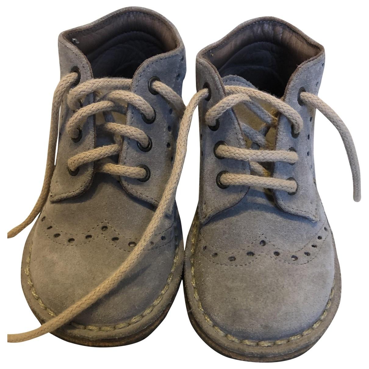 Pepe Children Shoes - Bottes.Bottines   pour enfant en suede - gris