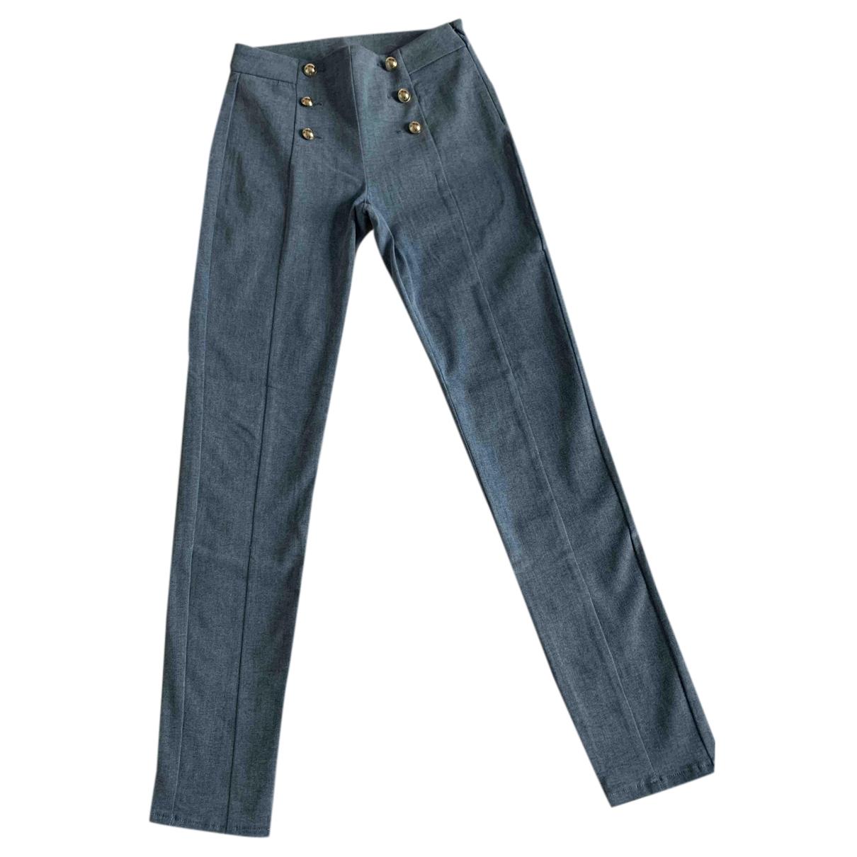 Liu.jo N Blue Cotton Trousers for Women 36 FR
