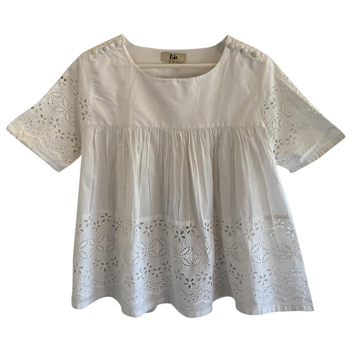Rika - Top   pour femme en coton - ecru