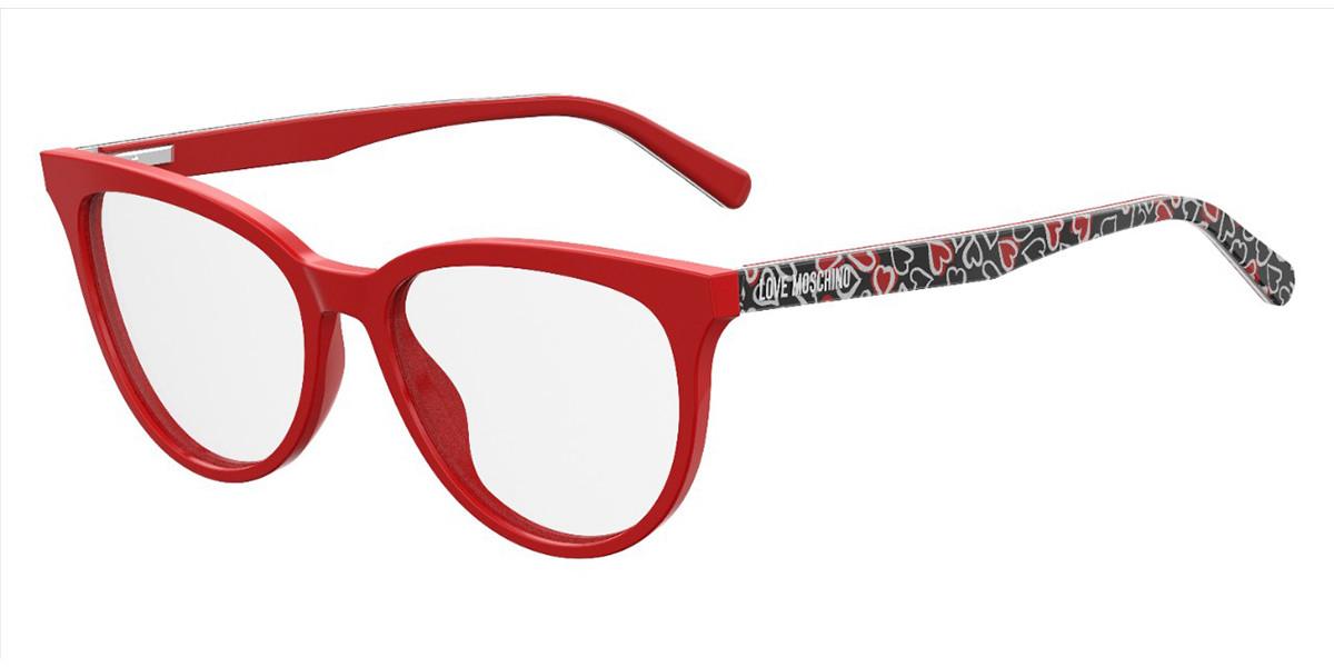 Moschino Love MOL519 0PA Women's Glasses Red Size 53 - Free Lenses - HSA/FSA Insurance - Blue Light Block Available