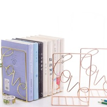 Letter Detail Metal Book End 1pc