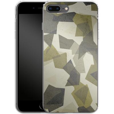 Apple iPhone 7 Plus Silikon Handyhuelle - Geometric Camo Green von caseable Designs