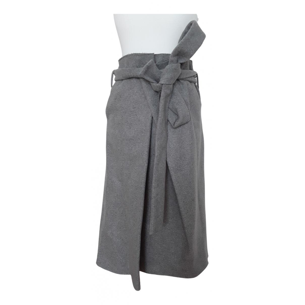 Avelon - Jupe   pour femme en laine - gris