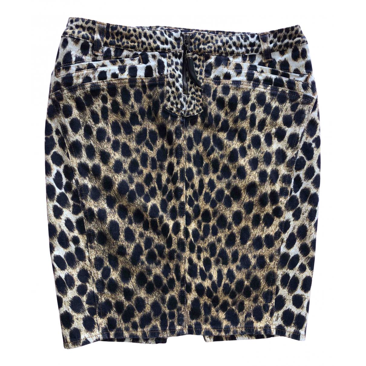 Just Cavalli N Black Cotton - elasthane skirt for Women 40 IT