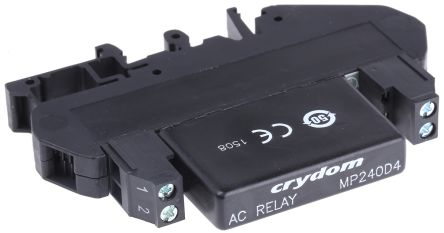 Sensata / Crydom 4 A rms Solid State Relay, Zero Cross, DIN Rail, 280 V Maximum Load