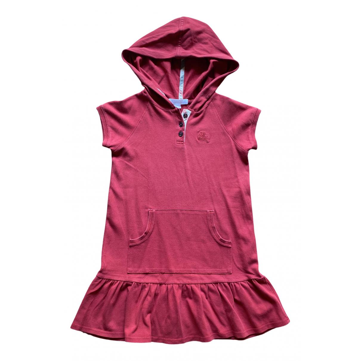 Burberry \N Kleid in  Bordeauxrot Baumwolle - Elasthan