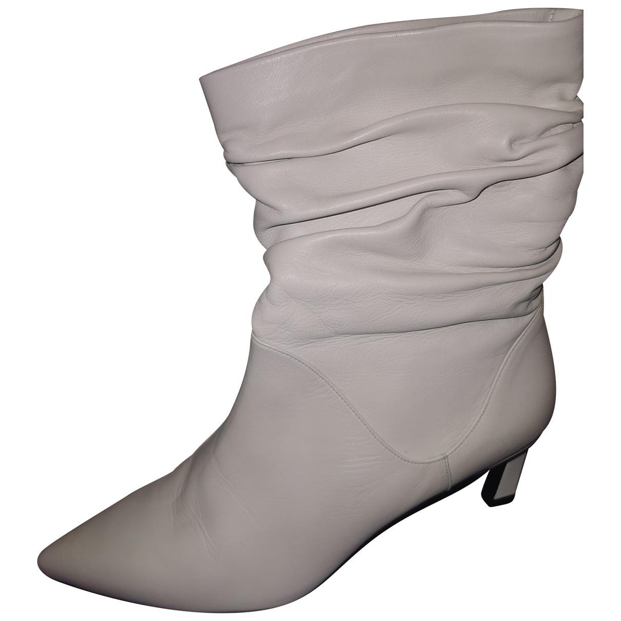 Stuart Weitzman \N White Leather Boots for Women 39.5 EU